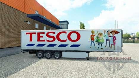 Tesco Haut auf den trailer für Euro Truck Simulator 2
