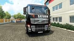 Saturn Haut auf Volvo-LKW