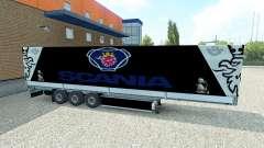La peau semi-remorque Scania
