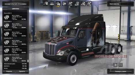 Erweiterte Palette von Motoren Paccar für American Truck Simulator