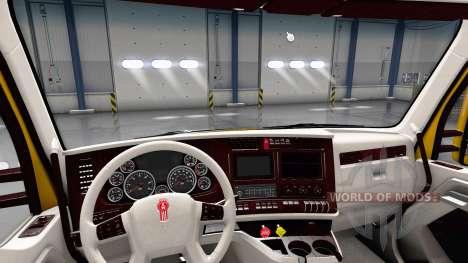 Blanc Kenworth T680 intérieur pour American Truck Simulator