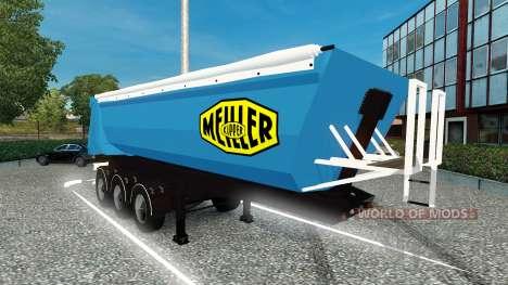 La peau Meiller Kipper semi-remorque à l' pour Euro Truck Simulator 2