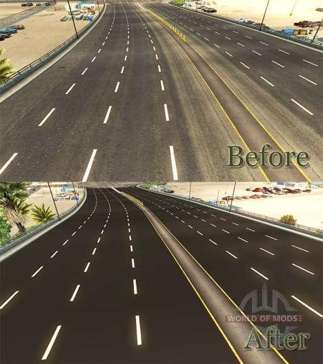 Sombre asphalte pour American Truck Simulator