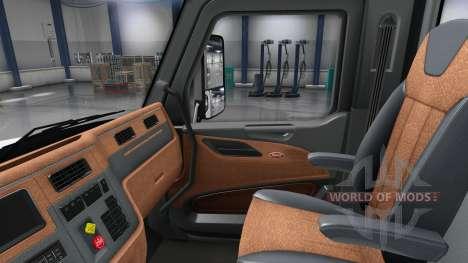 Aktualisiert Innenraum in einen Peterbilt 579 für American Truck Simulator
