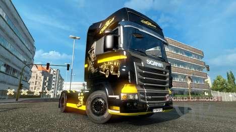 Al Capone skin für Scania-LKW für Euro Truck Simulator 2