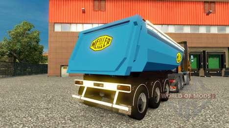 Haut Meiller Kipper Auflieger auf das für Euro Truck Simulator 2