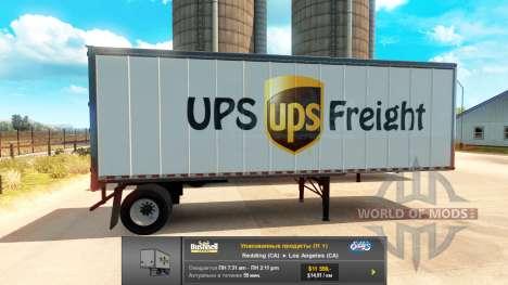 Remorques-UPS et le Vert de la Ville pour American Truck Simulator