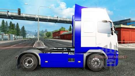 Peau Bleu-Blanc dans la Volvo pour Euro Truck Simulator 2