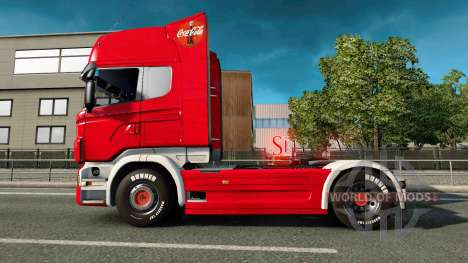 La peau de Coca-Cola camion Scania pour Euro Truck Simulator 2