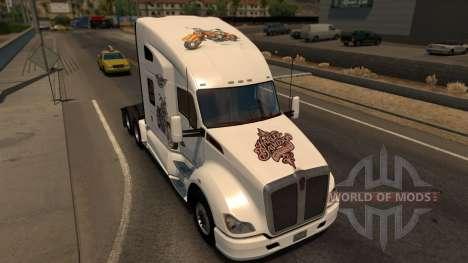 Kenworth T680 Harley Davidson Skin für American Truck Simulator