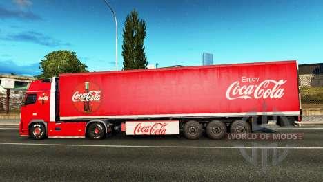 Skin Coca-Cola, Volvo, traktor für Euro Truck Simulator 2