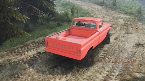Chevrolet C30 1966 [orange] v1.1 [16.12.15] für Spin Tires