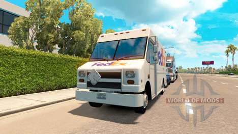 Real marques dans des fourgons de la circulation pour American Truck Simulator