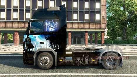 La peau de Star Trek dans l'Obscurité pour Volvo pour Euro Truck Simulator 2