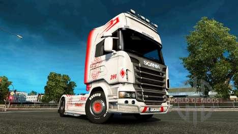 Vabis skin für den Scania truck für Euro Truck Simulator 2