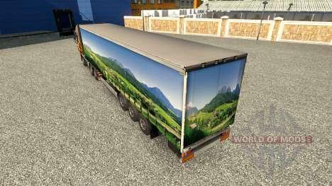 Haut Landschaft auf dem Anhänger für Euro Truck Simulator 2