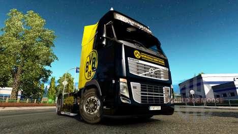 BvB skin für Volvo-LKW für Euro Truck Simulator 2