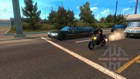 Les motos entre le trafic pour American Truck Simulator