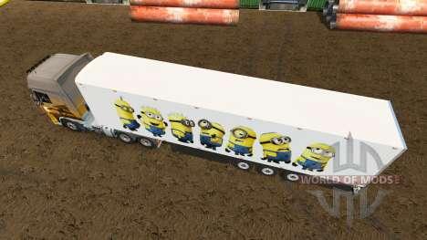 Haut für die Minion Fan trailer für Euro Truck Simulator 2