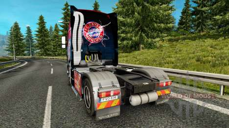 La peau FC Bayern Munchen sur un camion Volvo pour Euro Truck Simulator 2