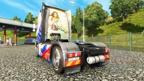 La peau de Stars & Stripes sur une Volvo pour Euro Truck Simulator 2