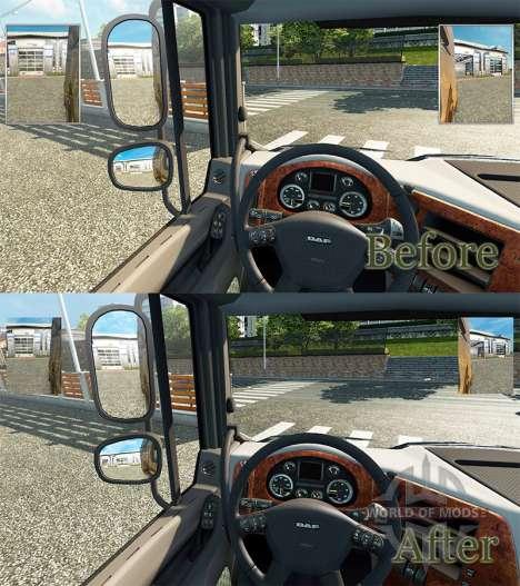 Des petits miroirs pour Euro Truck Simulator 2