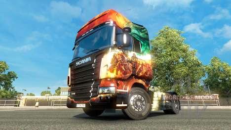 Die Guild Wars 2 skin für Scania-LKW für Euro Truck Simulator 2