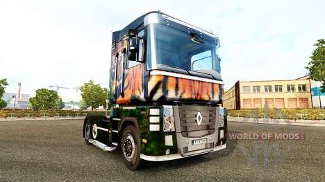 Tiger skin für Renault-LKW für Euro Truck Simulator 2