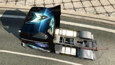 Haut Star Trek in to Darkness für Volvo-LKW für Euro Truck Simulator 2