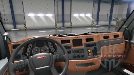 Mise à jour de l'intérieur dans un Peterbilt 579 pour American Truck Simulator