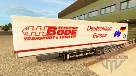 Peaux pour les remorques v2.0 pour Euro Truck Simulator 2