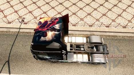 Spiderman skin für Volvo-LKW für Euro Truck Simulator 2