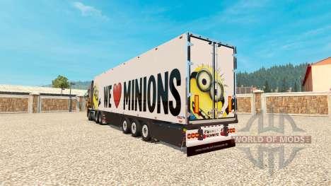 Minion Fan de la peau v2.0 sur la semi-remorque pour Euro Truck Simulator 2