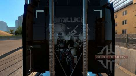 Skin Metallica for Peterbilt 579 pour American Truck Simulator