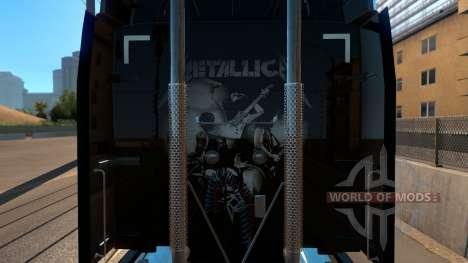 Skin Metallica for Peterbilt 579 für American Truck Simulator