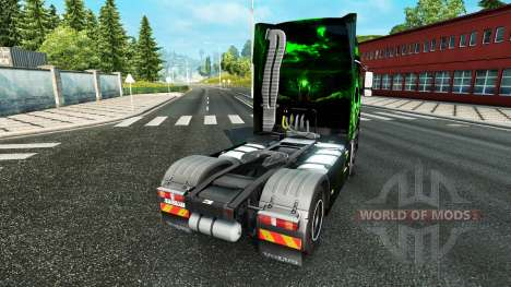 Biohazard skin für Volvo-LKW für Euro Truck Simulator 2