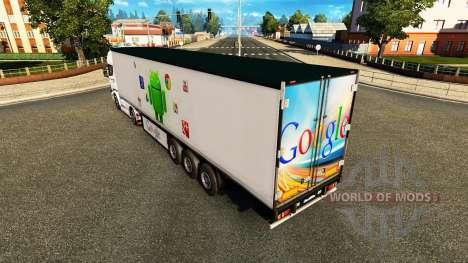 Google Haut für Scania-LKW für Euro Truck Simulator 2