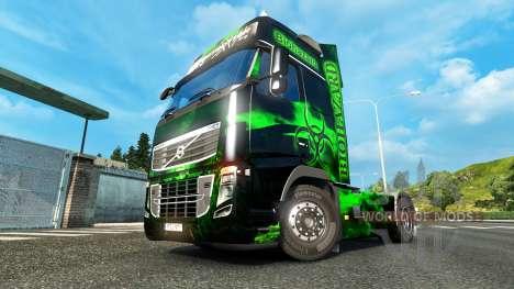 Biohazard peau pour Volvo camion pour Euro Truck Simulator 2