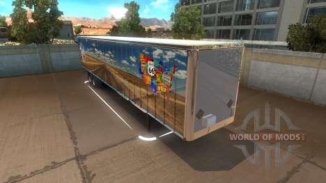 Route 66 Trailer für American Truck Simulator