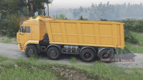 KamAZ-65201 [orange][08.11.15] pour Spin Tires