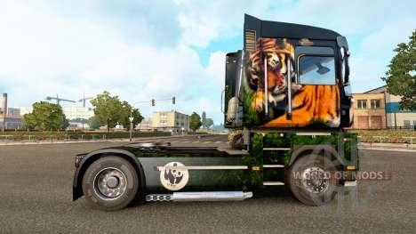 Peau de tigre pour Renault camion pour Euro Truck Simulator 2