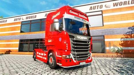 Emons de la peau pour Scania camion pour Euro Truck Simulator 2