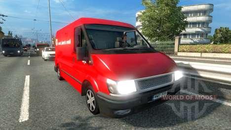 Ford Transit KitKat pour Euro Truck Simulator 2