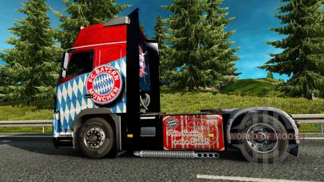 Haut den FC Bayern München auf einem Volvo truck für Euro Truck Simulator 2