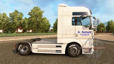 De la peau A. Schulz sur le camion de l'HOMME pour Euro Truck Simulator 2