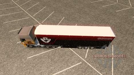 Skin für Scania V8 Schmitz trailer für Euro Truck Simulator 2