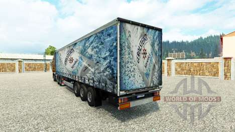 La peau Gerolsteiner sur la remorque pour Euro Truck Simulator 2