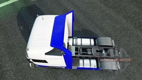Haut, Blau-Weiß in der Volvo für Euro Truck Simulator 2
