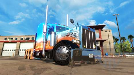 Haut Caveira auf Zugmaschine Peterbilt 379 für American Truck Simulator