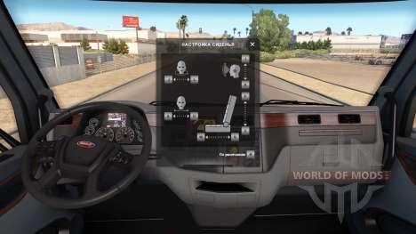Einstellung der Sitz ohne Einschränkung. für American Truck Simulator